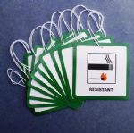 10. Upholstery / Furniture Hanging Swing Fire Labels (DL7)